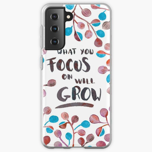 What you focus on will grow - Fall Palette Samsung Galaxy Soft Case