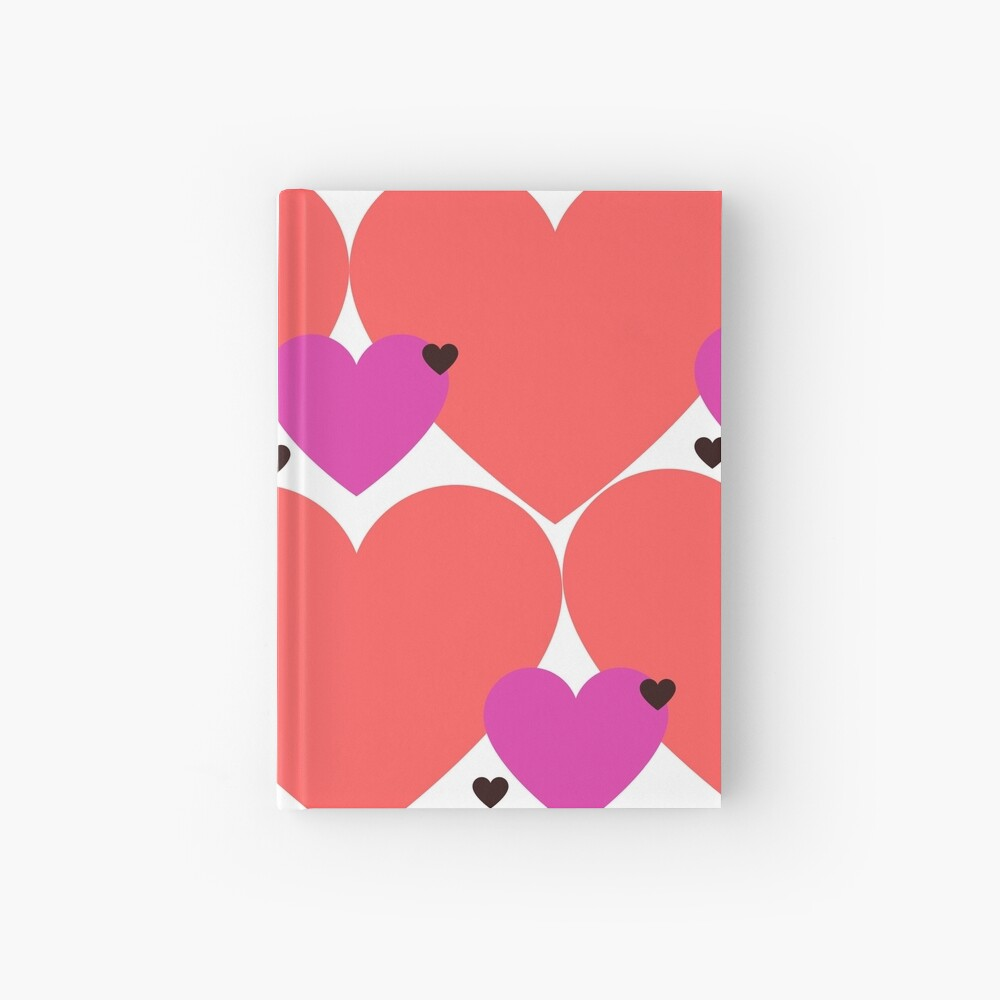 Valentines Hearts Hardcover Journal