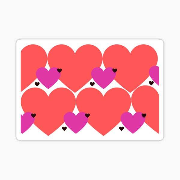 Valentines Hearts Sticker