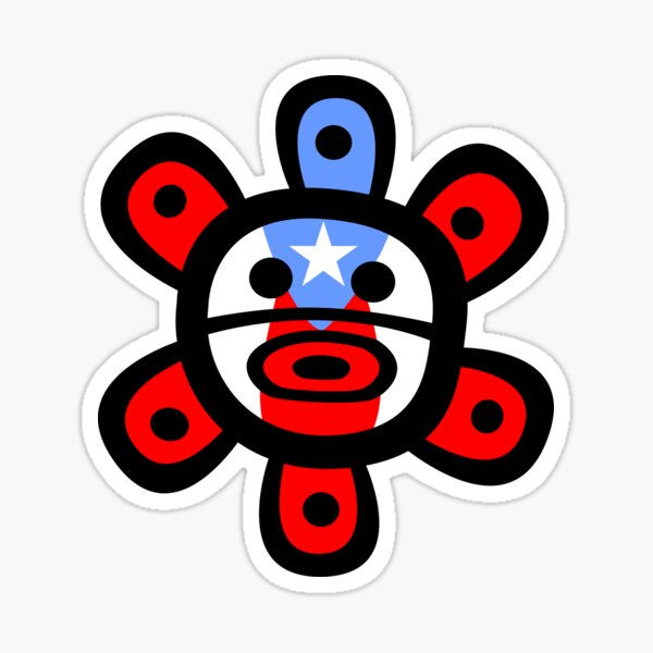 Sol Taino Flag Puerto Rico Sticker Clothing Gifts Sticker