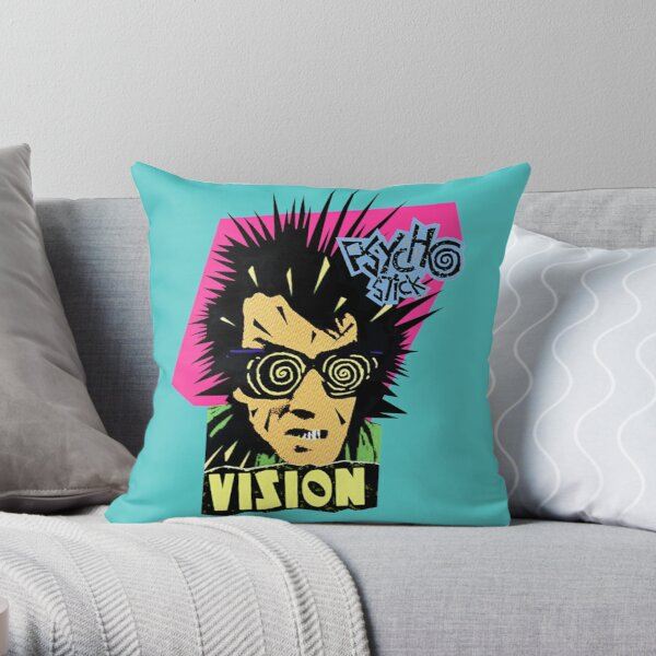 Vision Psycho Stick Throw Pillow