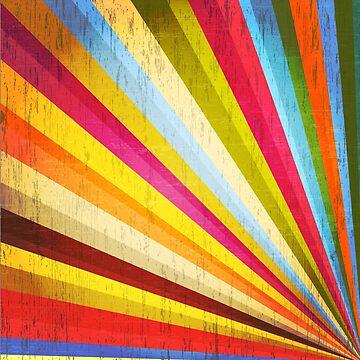 Grunge Rainbow Sunburst by gopinat