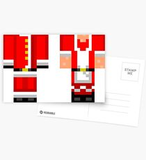 Minecraft Skin Christmas Duvet Cover Bedding Postcards