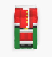Minecraft Skin Santa Duvet Cover Christmas Bedding Duvet Cover