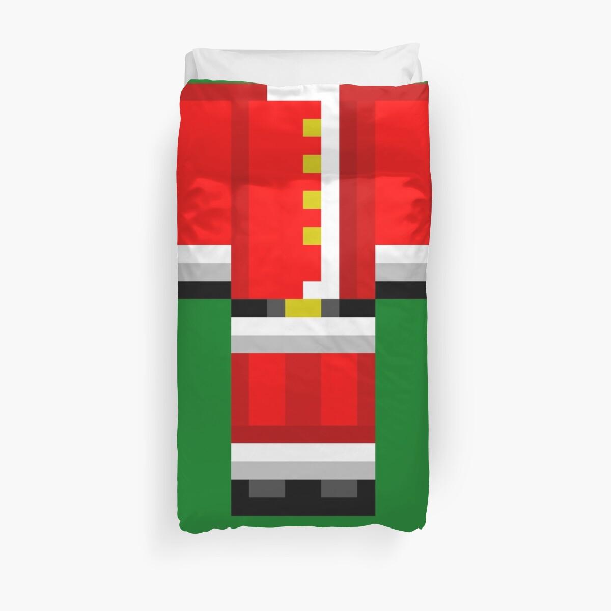 Minecraft Skin Santa Bettbezug Weihnachten Bettwäsche\