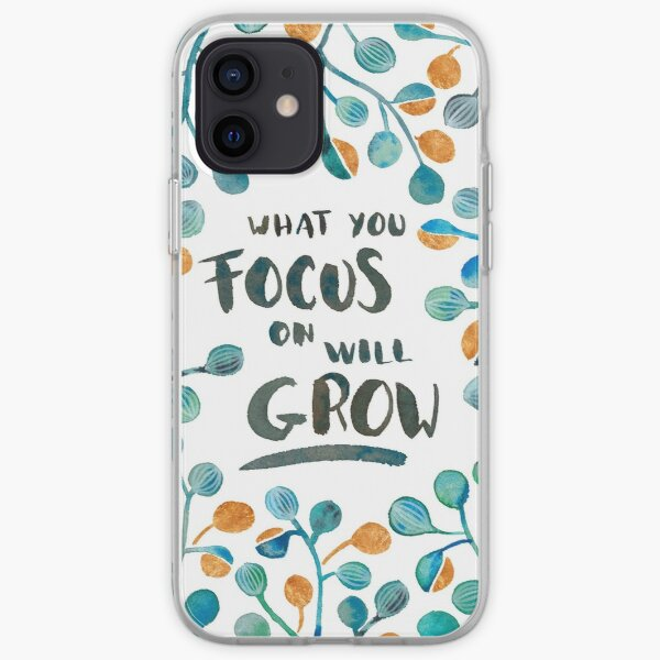 What you focus on will grow - Torquoise & Bronze Palette iPhone Soft Case