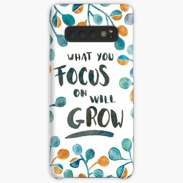 What you focus on will grow - Torquoise & Bronze Palette Samsung Galaxy Snap Case