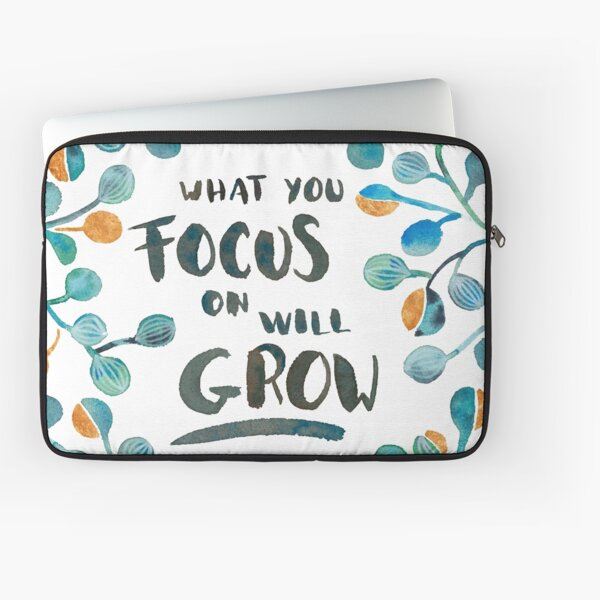What you focus on will grow - Torquoise & Bronze Palette Laptop Sleeve