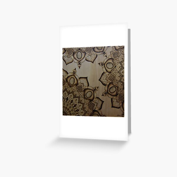 Mandala III Pyrography Artwork Greeting Card
