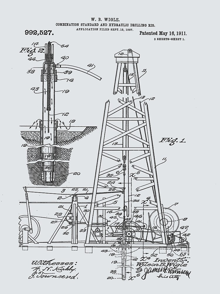 1911 Oil Rig Patent by Barry  Jones