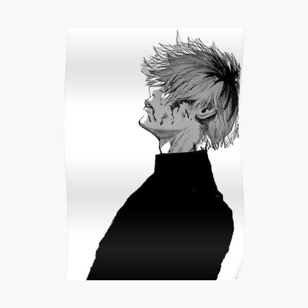 Deprimido ken kaneki Póster