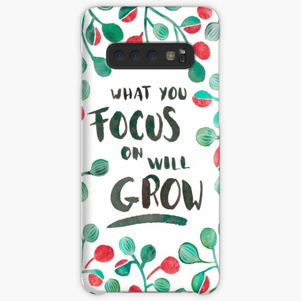 What you focus on will grow -  Sage & Bronze palette Samsung Galaxy Snap Case