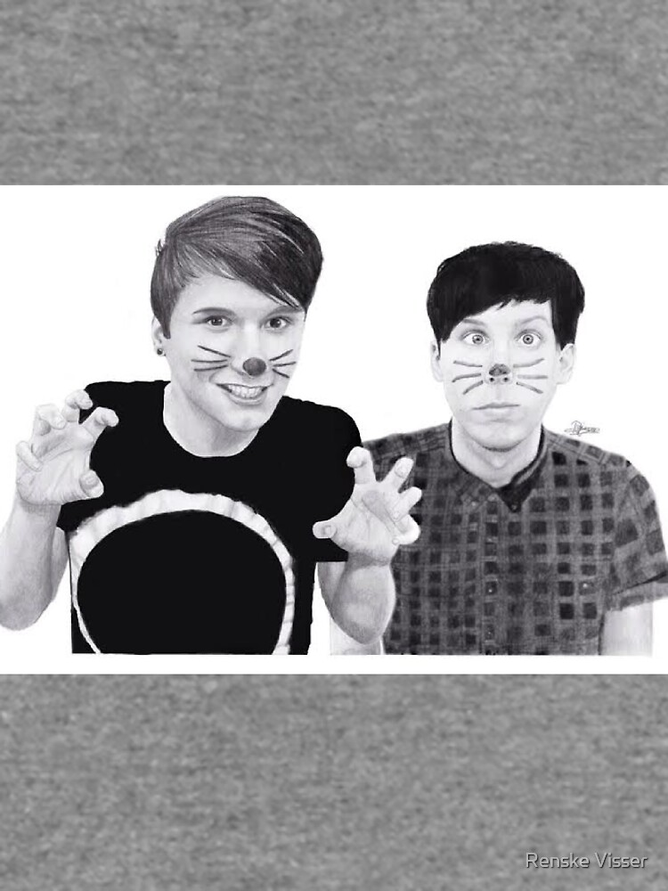 dan and phil b&w by art-ic-monkeys