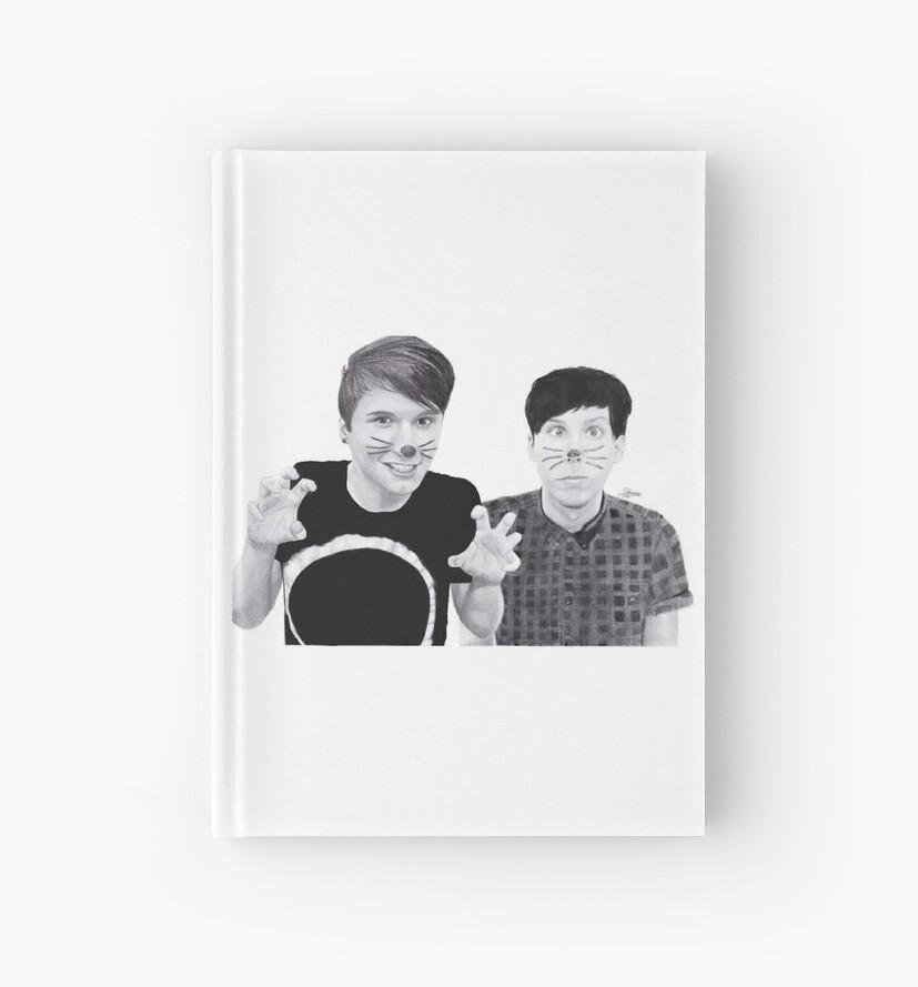 dan and phil b&w by Renske Visser