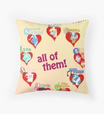 I have a crush on... all of them! - Poster, part 2 Throw Pillow
