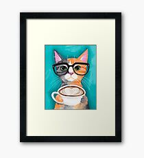 Kitten's Latte of Love Framed Print
