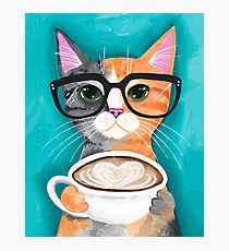Kitten's Latte of Love Photographic Print