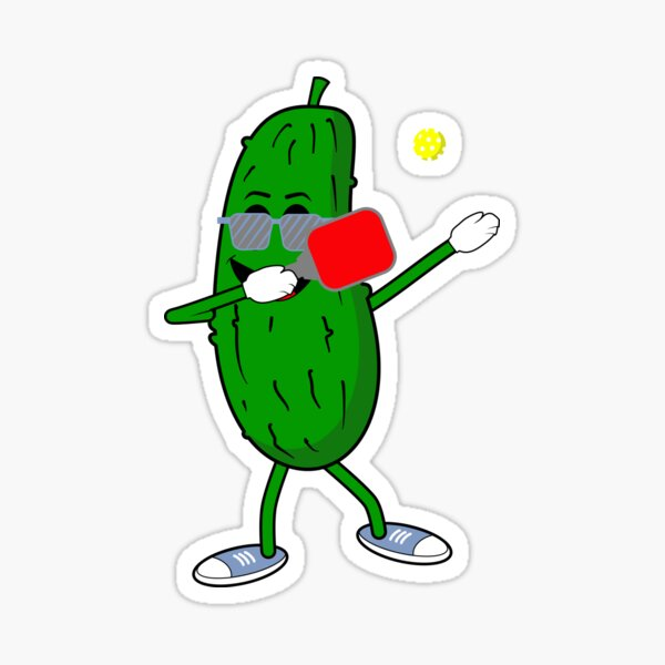 Funny Pickleball Dabbing Dink Dill Graphic Gift Sticker