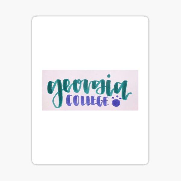 Georgia College Sticker