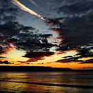 Fire In A Welsh Sky by martin bullimore
