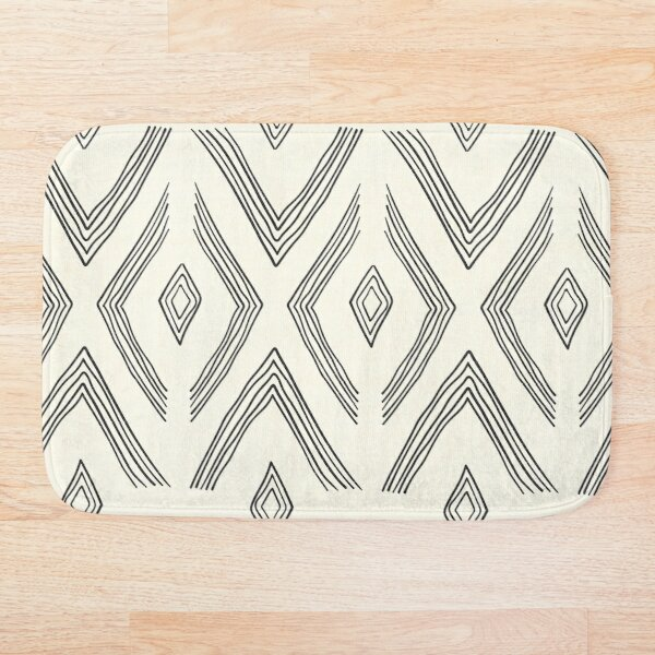 Birch Cream and Black Bath Mat