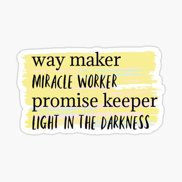 way maker Sticker