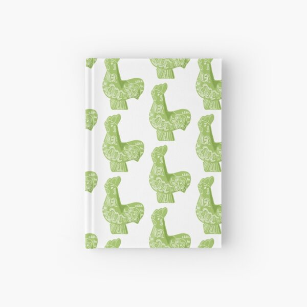 Green Dala Rooster Hardcover Journal