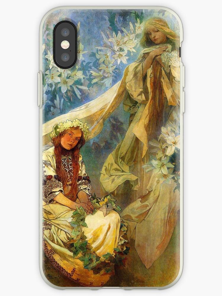 Alphonse Mucha - Madonna of the lilies by irinatsy