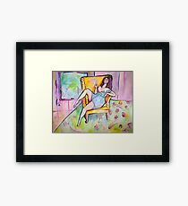 Thighs and Eyes and Sighs Framed Print
