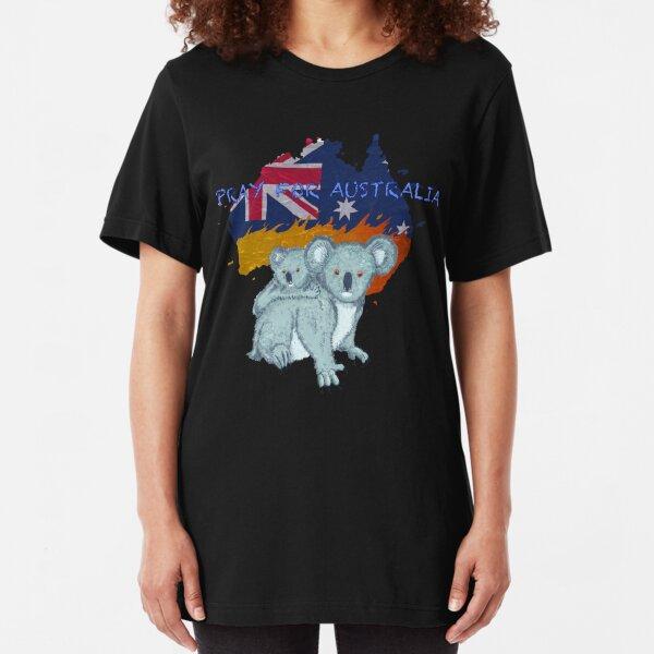 Pray for Australia Koala Slim Fit T-Shirt