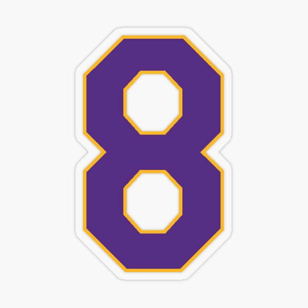 Lakers #8 Transparent Sticker
