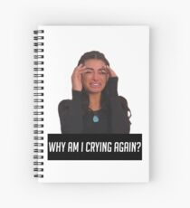 WHY AM I CRYING AGAIN Spiral Notebook