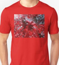 Black and Red Crescendo Unisex T-Shirt