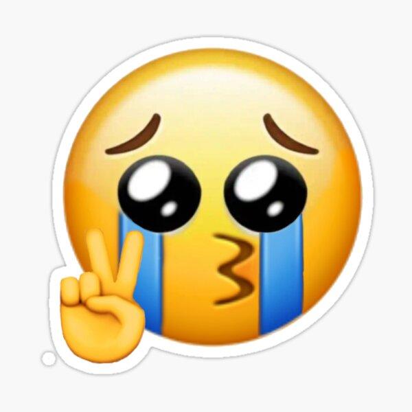 Friedenszeichen Emoji weinen Sticker