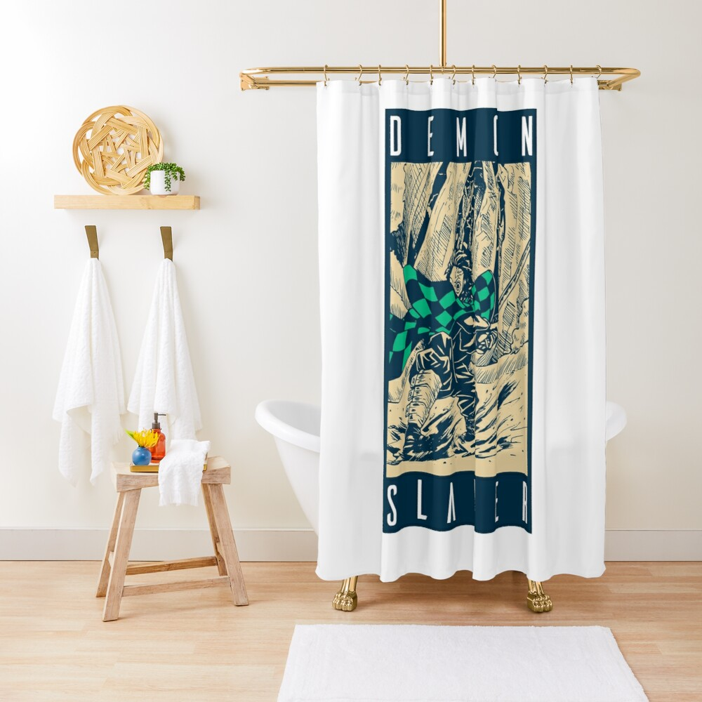Demon Slayer Vintage Shower Curtain