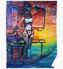 Sojie 13 wip # 3 detail of woman Poster