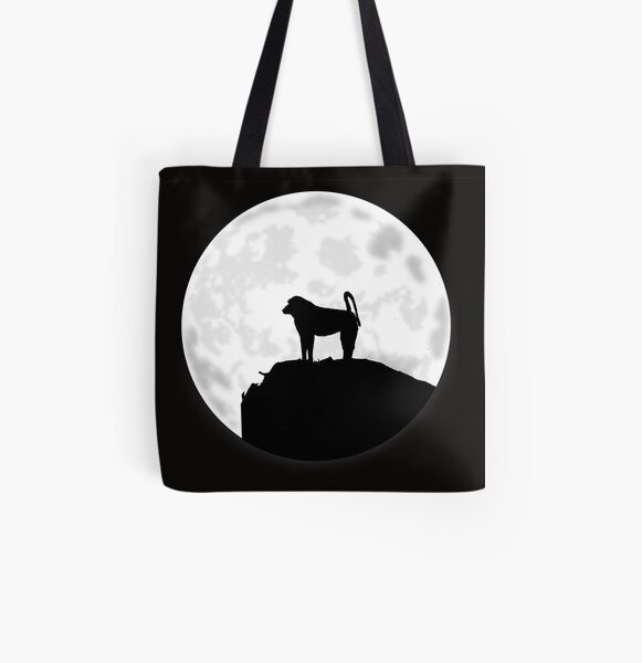 Baboon Under The Moon All Over Print Tote Bag