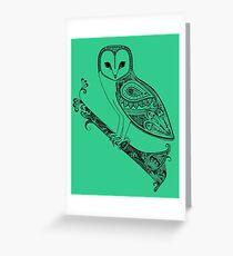 Intricate barn owl Greeting Card