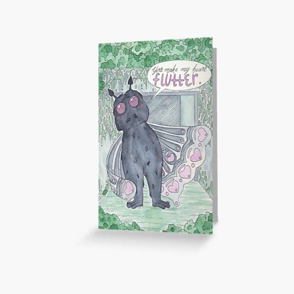 Mothman Valentine's Day Card Greeting Card