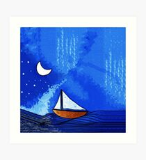 Night Sailing Art Print