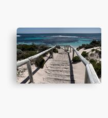 Sandy Steps  Canvas Print