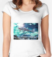 Sport plane Women's Fitted Scoop T-Shirt