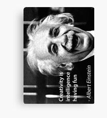 einstein quote creativity is intelligence having fun Canvas Print