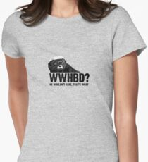 WWHBD - black text Womens Fitted T-Shirt