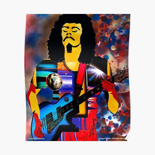 Legendary Guitarist Carlos Santana Poster
