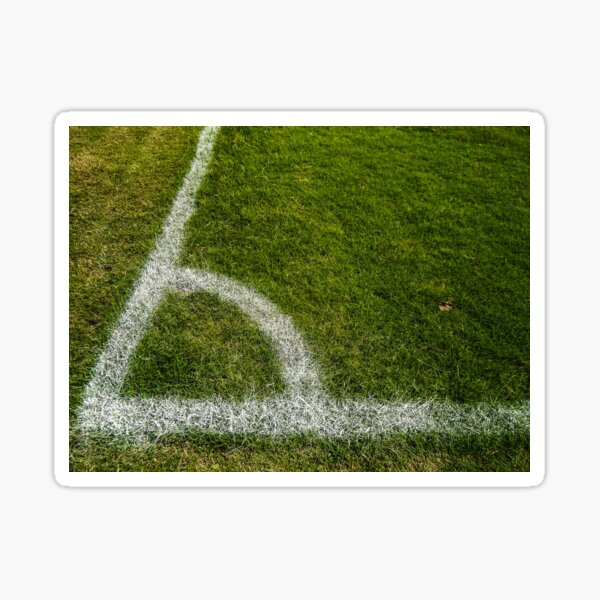 Football corner. soccer. Sticker
