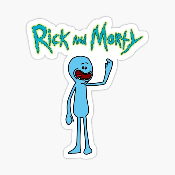 Mr Meeseeks   Rick and Morty character Sticker