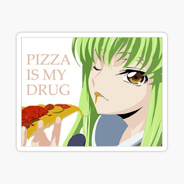 Code Geass C.C Pizza lover Sticker