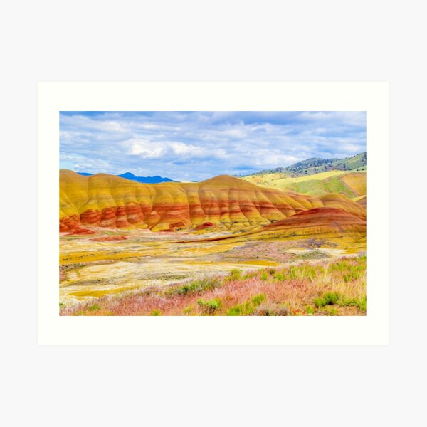 Painted Hills in Spring Art Print