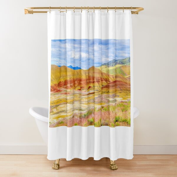 Painted Hills in Spring Shower Curtain